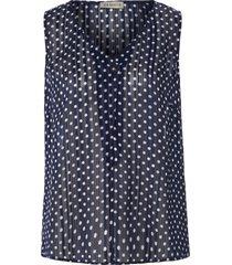 mouwloze blousetop bladerprint van uta raasch blauw