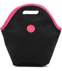 bolsa térmica colcci fitness neon preta/rosa