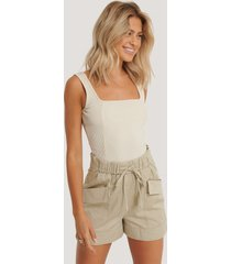 mango paperbag-shorts - beige