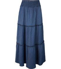 gonna lunga sostenibile in tencel™ lyocell (blu) - john baner jeanswear