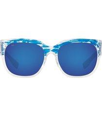 costa del mar 58mm polarized square sunglasses in blue at nordstrom