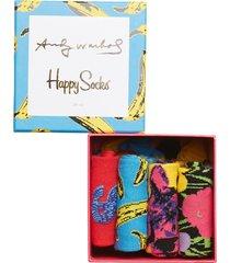 andy warhol sock box set underwear socks regular socks multi/mönstrad happy socks