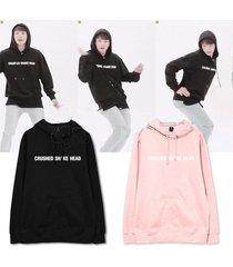 kpop bts cap hoodie jung kook same style wings sweatershirt sweater pullover