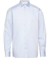 twill shirt – geometric details skjorta business blå eton