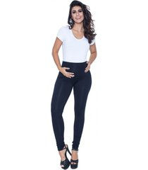 calça legging a gestante fusô viscolycra preto - kanui