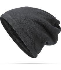 cappello berretto in pile polare antivento caldo da uomo da donna colletto multifunzione da ciclismo all'aperto maschera cappello
