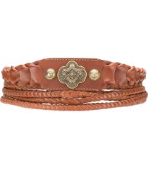 etro braided waist belt - brown