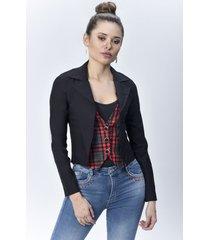 chaqueta blazer dama negro di bello jeans  classic jackets ref c076
