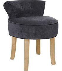 stołek fotel taboret welurowy sinaloa dark grey