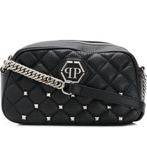 philipp plein hexagon studded pouch - black