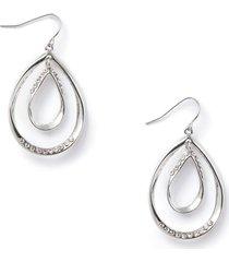 rhinestone double-teardrop earrings