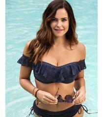 marseille underwire non padded bardot bikini top