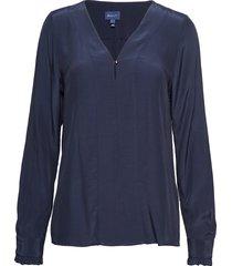d2. tux blouse blouse lange mouwen blauw gant