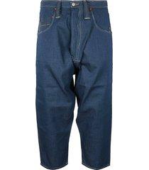 junya watanabe wide leg cropped jeans