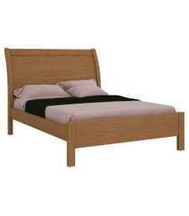 cama de casal elegance 1,60 freijó móveis fazzio bege