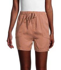 dress forum women's high-waist drawstring shorts - desert sand - size m