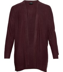 knitted cardigan plus structur long sleeves stickad tröja cardigan röd zizzi