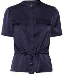 ayvaa blouses short-sleeved blå ted baker