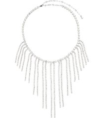 symmetric crystal embellished necklace