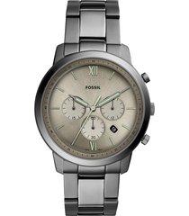 relógio cronógrafo fossil masculino neutra chrono grafite - fs5492/1fn grafite