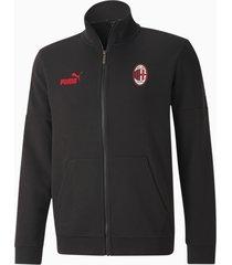 ac milan ftblculture voetbal trainingsjack, rood/zwart, maat l   puma