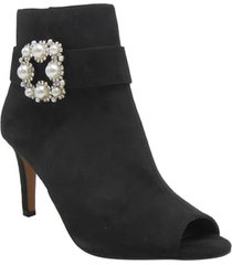 women's j. renee pranati embellished open toe bootie, size 11 b - black