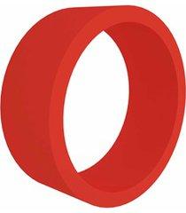 nicho em mdf redondo 39cm vermelho
