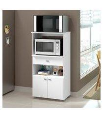armário multiuso, para forno e microondas, multimóveis, branco premium