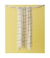 lenço em poliéster - lenço soho cor: bege - tamanho: único