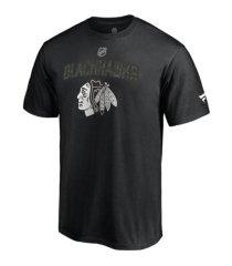 majestic chicago blackhawks men's military appreciation t-shirt