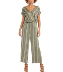 style & co petite printed blouson jumpsuit, created for macy's