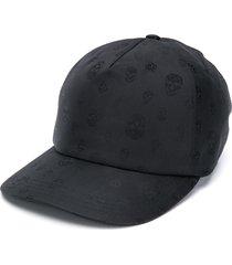alexander mcqueen skull-print baseball cap - black