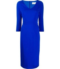 goat janina pencil dress - blue