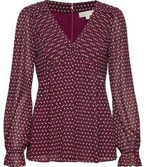 grphic diamont geo tp blouse lange mouwen rood michael kors