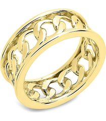 sterling forever women's 14k gold vermeil curb chain band ring/size 7 - size 7