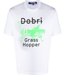 junya watanabe man grasshopper print t-shirt - white