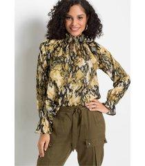 blouse met strikkoordjes