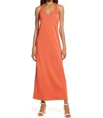 women's treasure & bond racerback knit tank dress, size xx-large - red