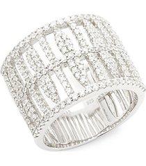 sterling silver embellished midi ring