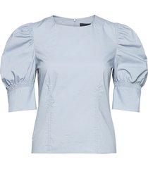 wiliam blouse blouse lange mouwen blauw birgitte herskind