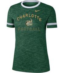 nike women's charlotte 49ers slub fan ringer t-shirt