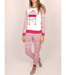 pyjama's / nachthemden admas innerwear pyjamatop en -broek winter is coming burgundy