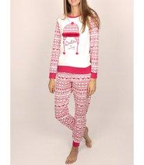 pyjama's / nachthemden admas homewear pyjamatop en broek winter is coming bordeaux