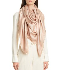 women's valentino garavani vlogo silk blend scarf