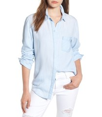 women's rails ingrid chambray shirt, size large - blue