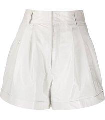 manokhi jett leather shorts - white