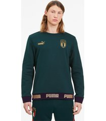 italia ftblculture sweater voor heren, goud, maat m | puma