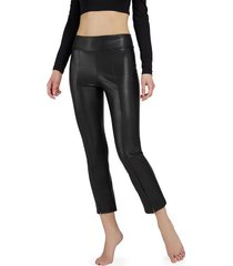 calzedonia thermal leather-look leggings woman black size l