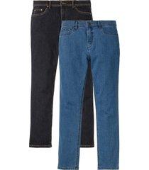 jeans elasticizzati regular fit straight (pacco da 2) (blu) - john baner jeanswear