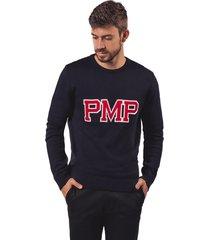 sweater tejido letras pmp azul oscuro